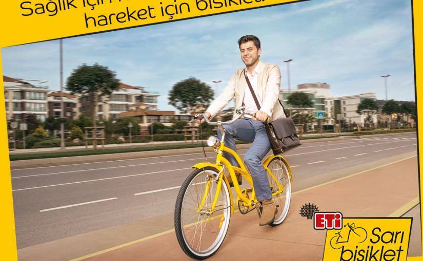 Sarı Bisiklet Projesi'yle ETİ ve Aktif Yaşam Derneği herkesi pedala çağırıyor.