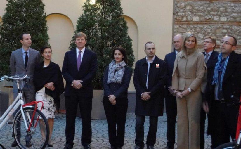 Hollanda Prensi ve Prensesi İstanbul'da Bisikletlerle