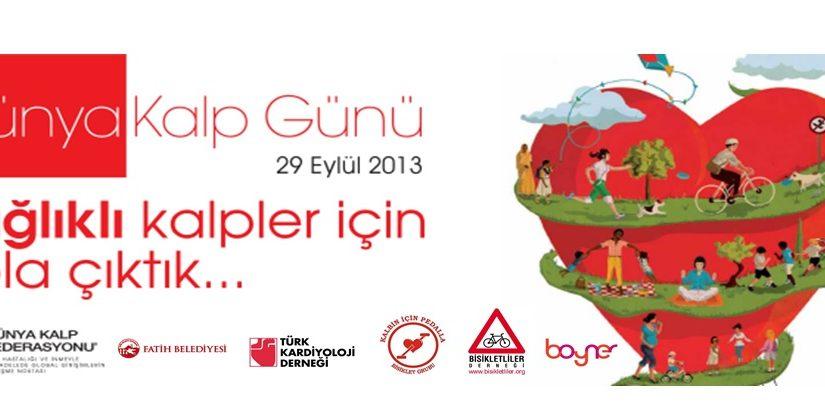 """Dünya Kalp Günü için 28 Eylül'de yurt çapında """"Kalbin İçin Pedalla""""!"""